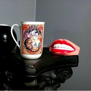 Vintage Cat Porcelain Mug